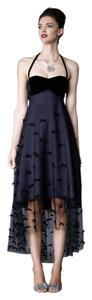 Anthropologie Velvet Silk Dress