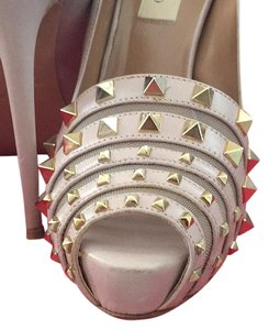 Valentino Light pink w gold studs Platforms