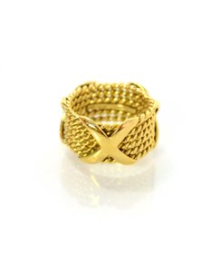 Tiffany & Co. Tiffany & Co. 18K Jean Schlumberger Rope X Ring Sz 6.5