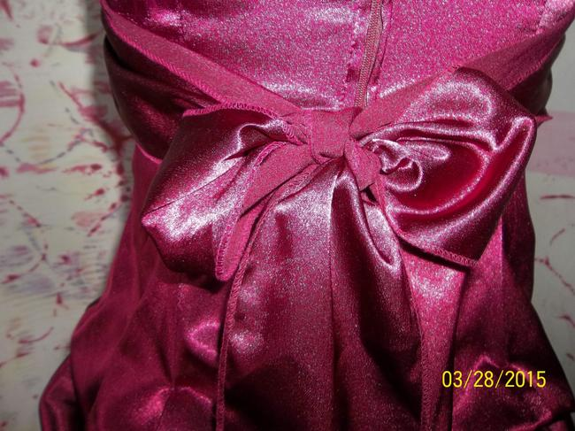 Ruby Rox Special Occasion Prom Evening Wear Strapless Sash Dress