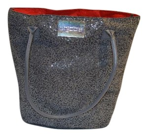 Chico's Sparkle Red Sequin Tote in Grey