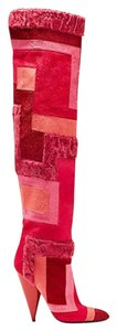 Tom Ford Geometric Patchwork Boot Red Boots