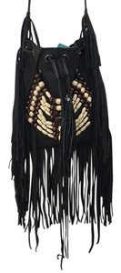 Cut N' Paste Free People Leather Fringe Cross Body Bag