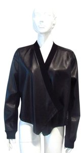 BCBGMAXAZRIA Faux Leather Black Jacket