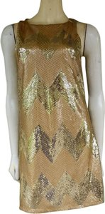 BB Dakota Sequin Lined Chevron Dress