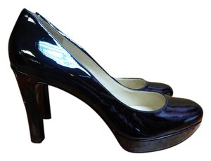 Nine West Patent Leather Heels Platform Black Formal
