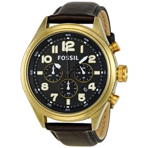 Fossil Fossil DE5000 Dress Black Leather Watch