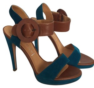 Casadei Luggage teal Sandals