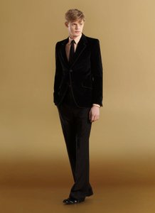 Gucci Men's Wool Tuxedo Dress Pants Eu 52/ Us 36 268787 1000