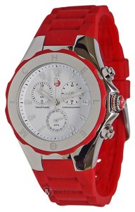 Michele NEW WOMENS MICHELE (MWW12F000021) PARK JELLY CHRONOGRAPH RED WATCH