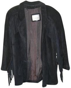 Suede Fringe U.s.a. Made Leather Jacket