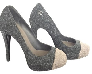 Chanel Glitter Platform Pumps