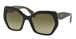 Prada Prada SPR16R Sunglasses PR16RS Black 1AB1X1 Authentic