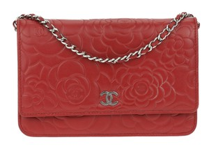 Chanel Wallet On A Chain WOC Quilted CC Flap CrossBody Bag Camellia
