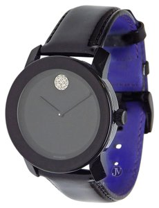 Movado BRAND NEW UNISEX MOVADO (3600345) BLACK PATENT LEATHER CRYSTAL WATCH