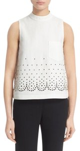 Alexander Wang Studded Mock A-line Top White