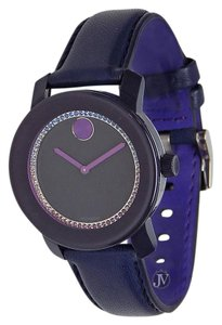 Movado BRAND NEW WOMENS MOVADO (3600228) BOLD NAVY BLUE LEATHER STRAP WATCH
