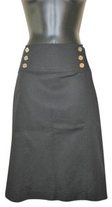 Lauren Ralph Lauren Cotton Pencil Skirt Black