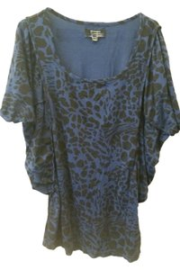 insight Cheetah Top Blue and black