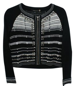 Nanette Lepore Cardigan Black And White Sweater