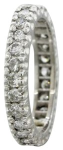 1950s Antique Vintage Estate Solid Platinum 1.05ctw Diamond Eternity Band Ring