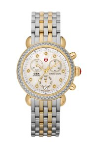 Michele NEW Michele CSX-36 Diamond Two Tone Gold Ladies Watch MWW03M000158