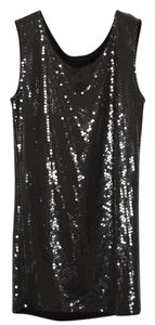 LaROK Sequin Silver Party Fitted Dress