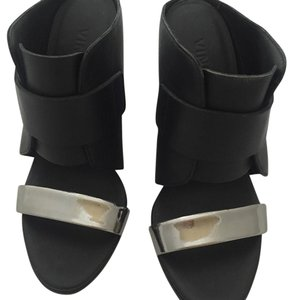 Vince black, silver Wedges
