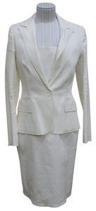 Lanvin LANVIN 2013 Cream Linen Blend Jacket & Dress Suit Set Sz 38 / 44 $3000