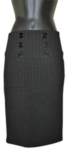 Max & Mia Stretchy Pencil Slit Dryclean Only Skirt Black
