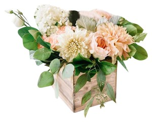 Set Of Wooden Flower Boxes For Centerpieces