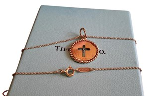 Tiffany & Co. Tiffany & Co. 18k Gold Cross medallion on a 20