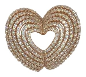 Other Rose Gold Plated .925 Sterling Silver Cubic Zirconia Heart Pendant