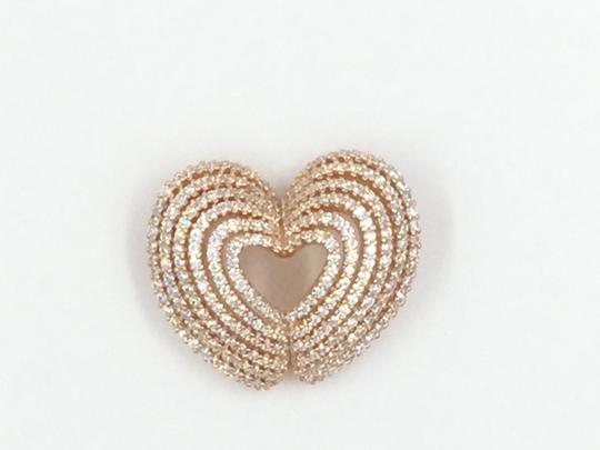 Other Rose Gold Plated .925 Sterling Silver Cubic Zirconia Heart Pendant Image 2