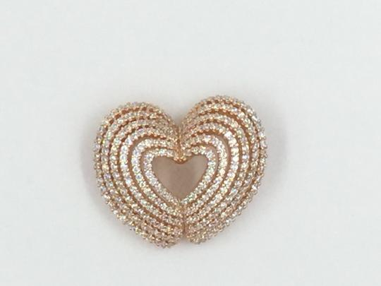 Other Rose Gold Plated .925 Sterling Silver Cubic Zirconia Heart Pendant Image 3