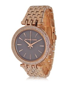 Michael Kors BRAND NEW WOMENS MICHAEL KORS (MK3402) DARCI BLACK ROSE GOLD WATCH