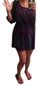 Nicole Miller short dress Purple/multi on Tradesy