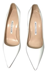 Manolo Blahnik White Pumps