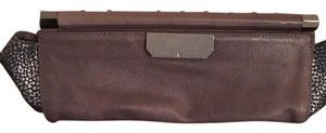 Halston Gunsmoke Grey Clutch
