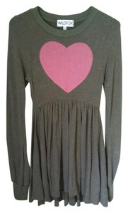 Wildfox short dress Army Green / Olive Fall Mini Heart on Tradesy