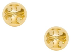 Tory Burch NWT Tory Burch Dome Logo Stud Earrings Goldtone