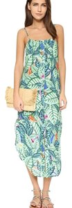 Green Maxi Dress by Mara Hoffman Print Vacation Palm Leaf