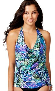 Miraclesuit MAGICSUIT~ Papillon Sophie Draped Hi-Low Tankini Top~8