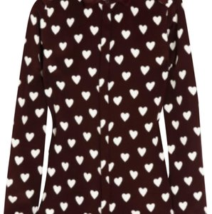 Rubber Collar Heart Print Shirt | Burberry T Shirt Red and White