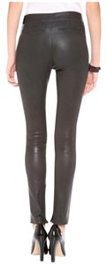 J Brand Morgan Leather Skinny Pants Brown