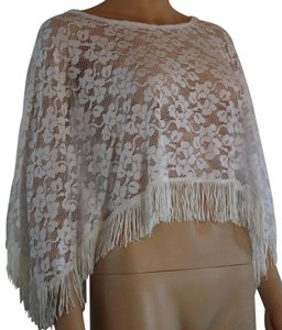 Other Lace Fringe Hem Floral Cape