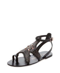 Ivy Kirzhner Studded Black Sandals
