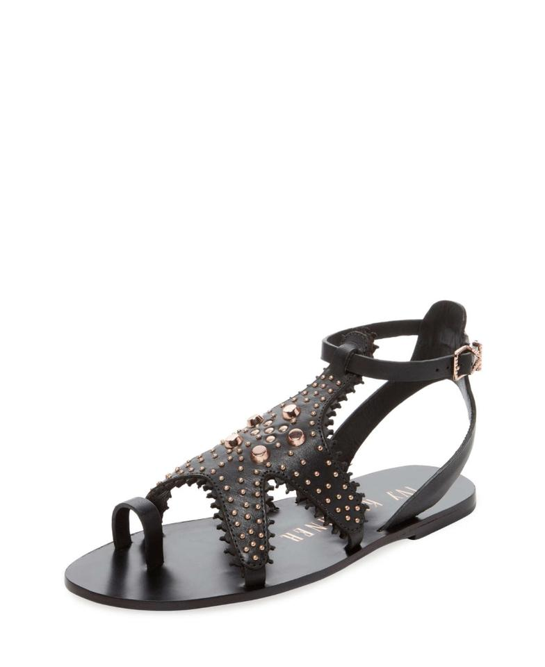 f411730dc223 Ivy Kirzhner Black Starfish Studded Sandals Size US 7 Regular (M