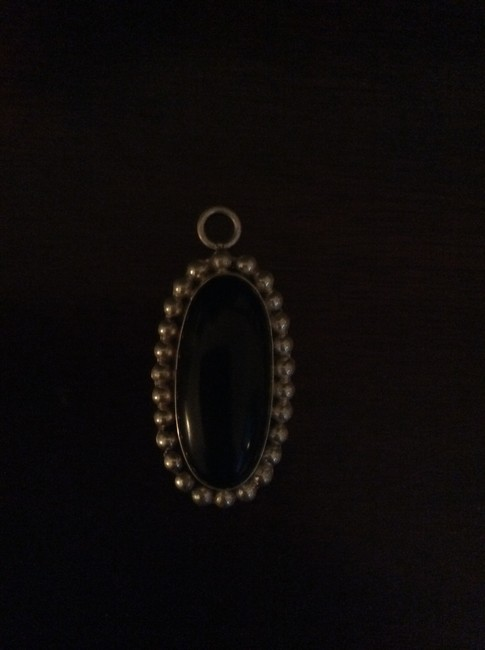 Black Sterling Silver and Onyx Pendent Necklace Black Sterling Silver and Onyx Pendent Necklace Image 1