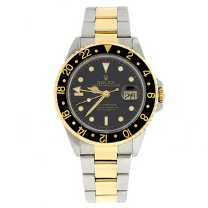 Rolex Rolex GMT-Master II 2Tone Gold/Steel 40mm Black Dial Automatic 16713